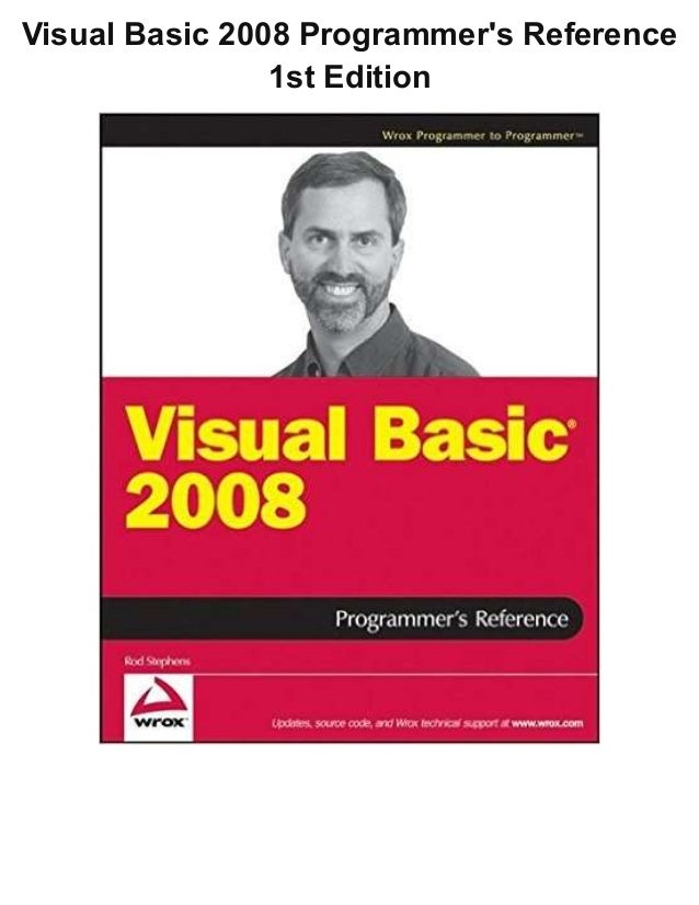 Visual Basic 2008 Programmer's Reference 1st Edition
