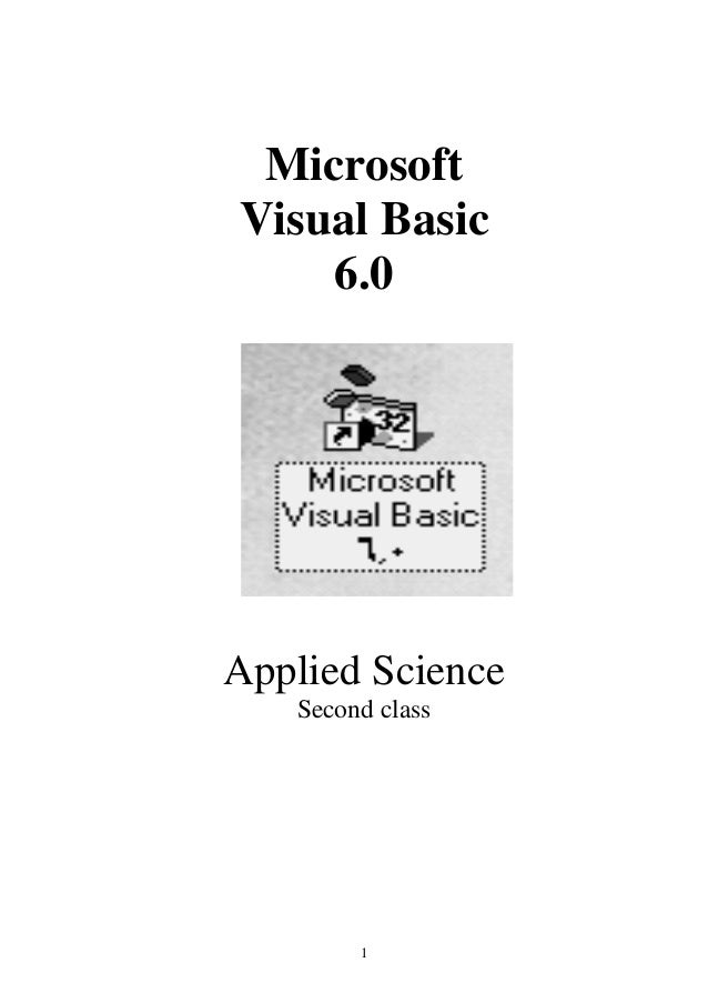 MicrosoftVisual Basic    6.0Applied Science   Second class        1