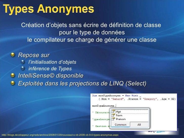 <ul><li>Repose sur  </li></ul><ul><ul><li>l'initialisation d'objets </li></ul></ul><ul><ul><li>inférence de Types </li></u...