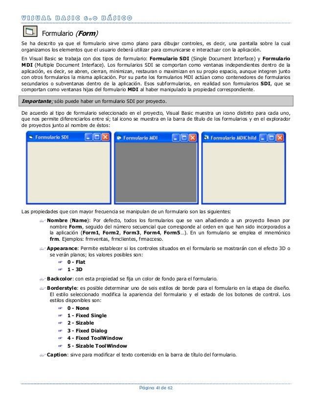 guía básica de visual basic 6 0
