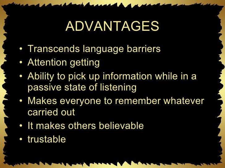 advantages and disadvantages of visual communication pdf