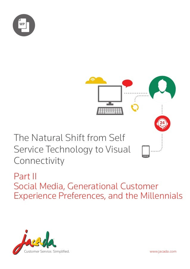 The Natural Shift from Self Service Technology to Visual Connectivity Part II Social Media, Generational Customer Experien...