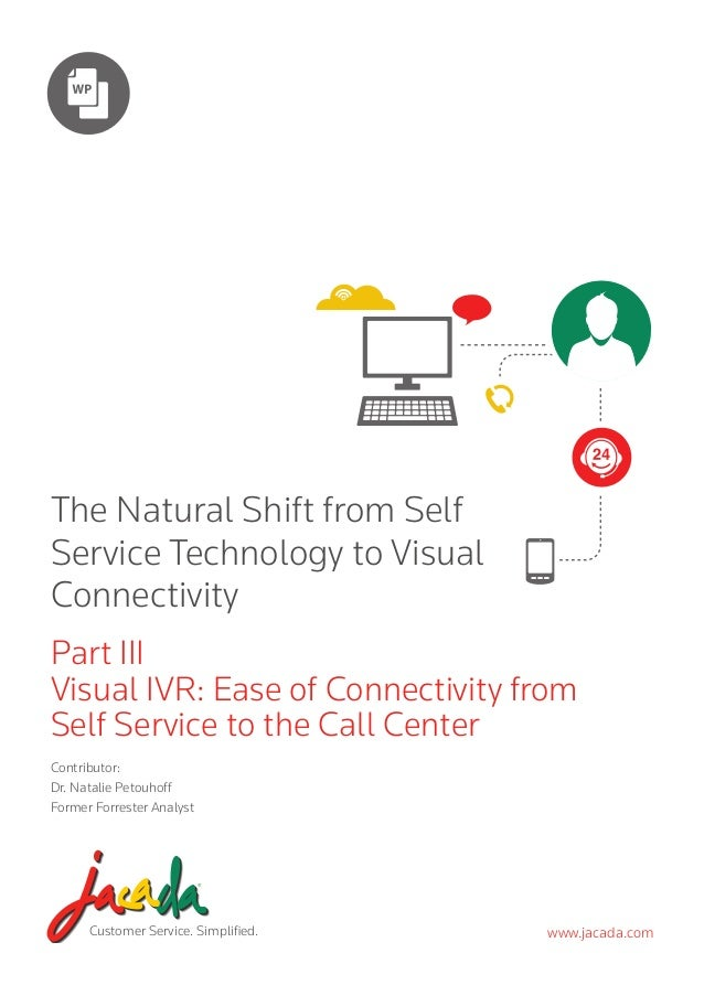The Natural Shift from Self Service Technology to Visual Connectivity Part III Visual IVR: Ease of Connectivity from Self ...