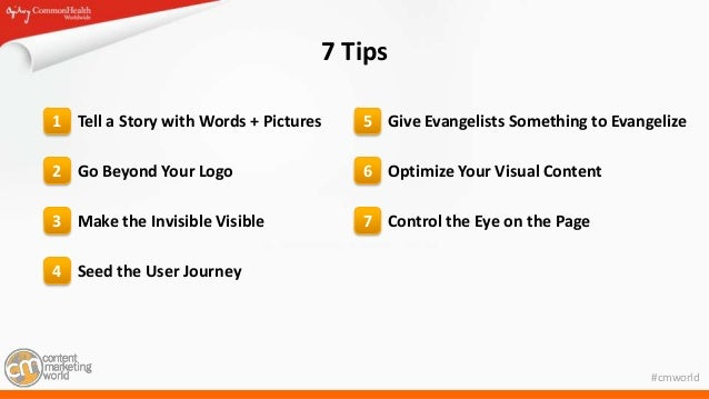 Seven & a Half Tips to Jump Start Your Visual Content Strategy Slide 2