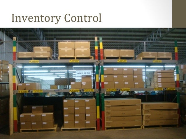 Inventory management in a manufacturing