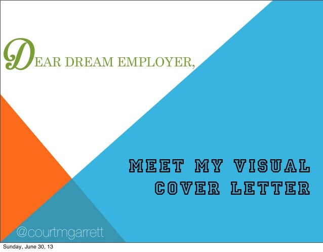 DEAR DREAM EMPLOYER, MEET MY VISUAL COVER LETTER @courtmgarrett Sunday, June 30, 13