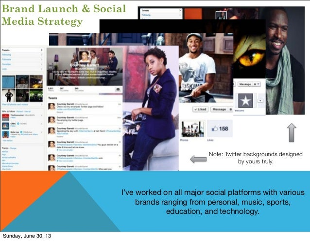 Brand Launch & Social Media Strategy I've worked on all major social platforms with various brands ranging from personal, ...