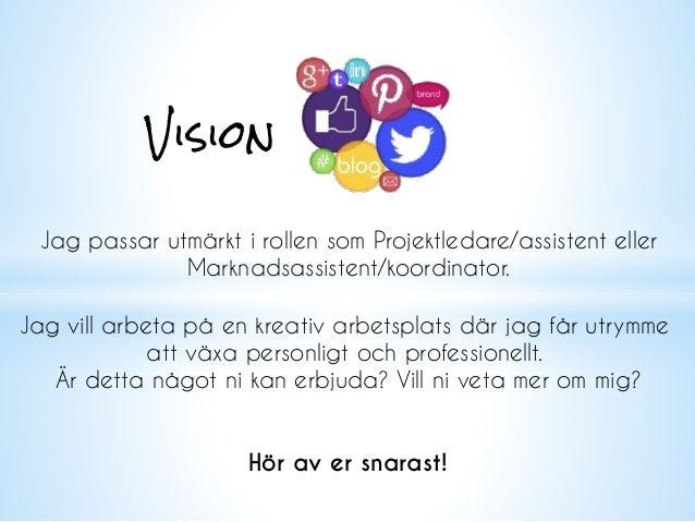 Visual cv Slide 2