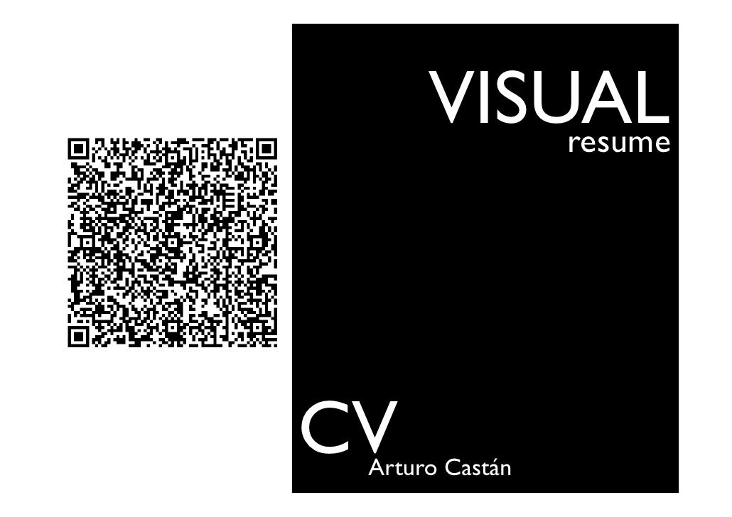 visual resume cv arturo castan