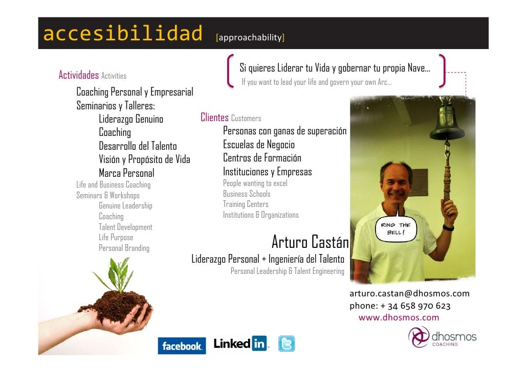 Visual resume CV Arturo Castan