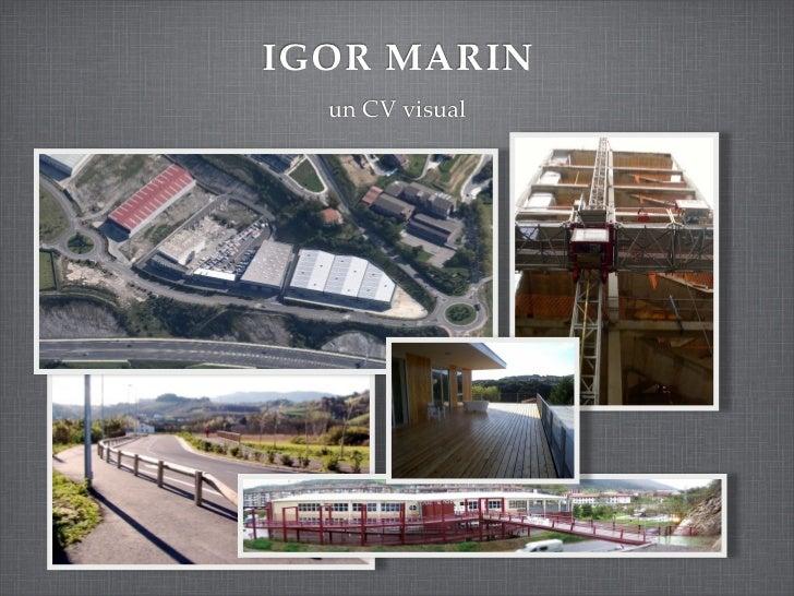 IGOR MARIN  un CV visual