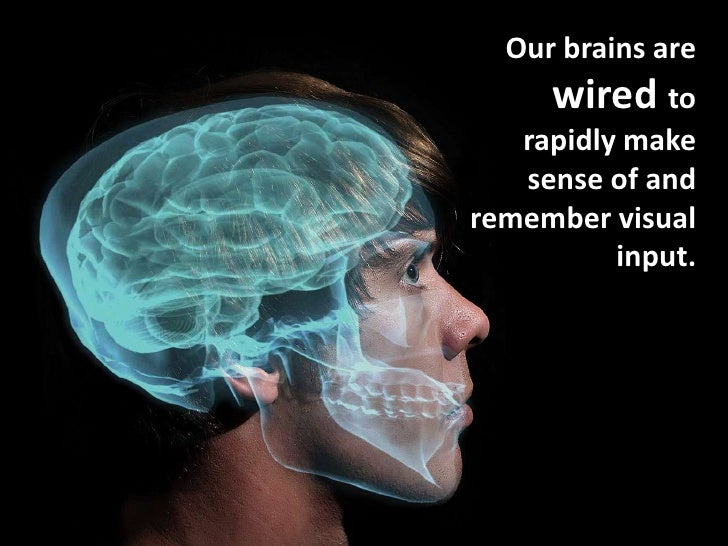 Our brains are     wired to   rapidly make   sense of andremember visual          input.