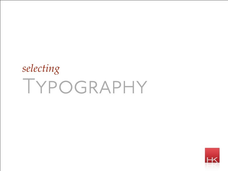 selecting  Typography