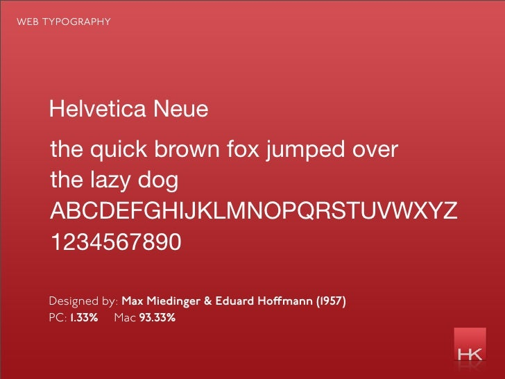 web typography         Helvetica Neue     the quick brown fox jumped over     the lazy dog     ABCDEFGHIJKLMNOPQRSTUVWXYZ ...