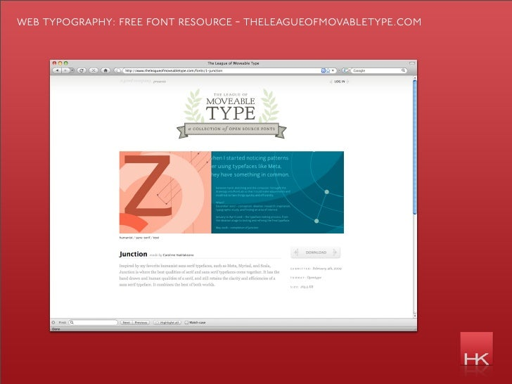 web typography: free font resource - theleagueofmovabletype.com