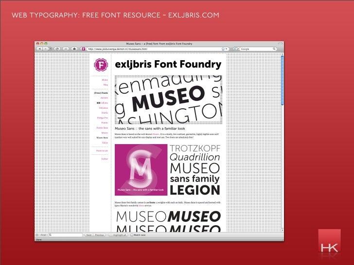 web typography: free font resource - exljbris.com