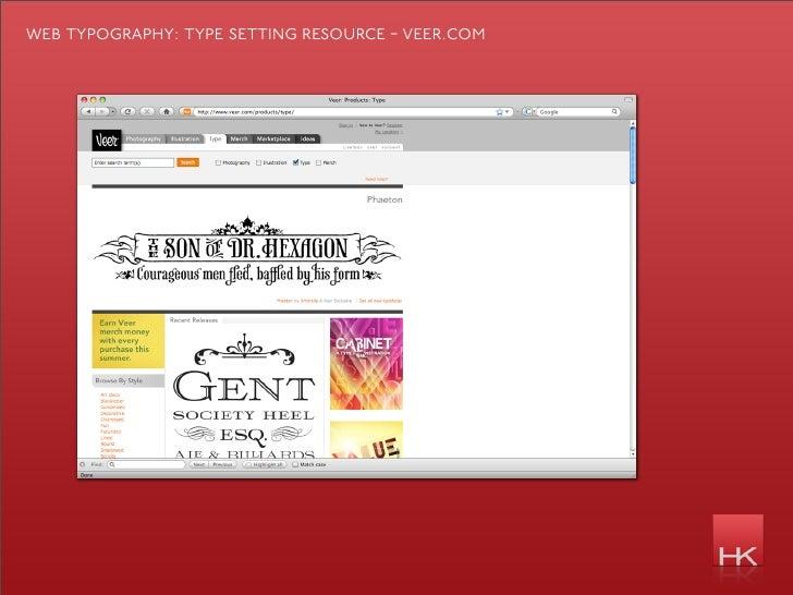 web typography: type se   ing resource - veer.com