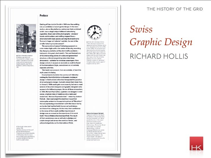 the history of the grid    Swiss Graphic Design RICHARD HOLLIS