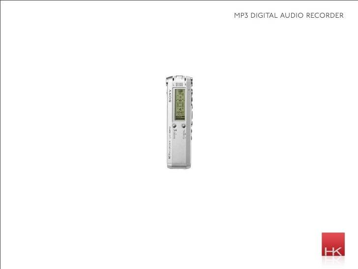 mp3 digital audio recorder