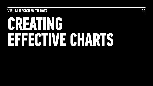VISUAL DESIGN WITH DATA CREATING  EFFECTIVE CHARTS 11