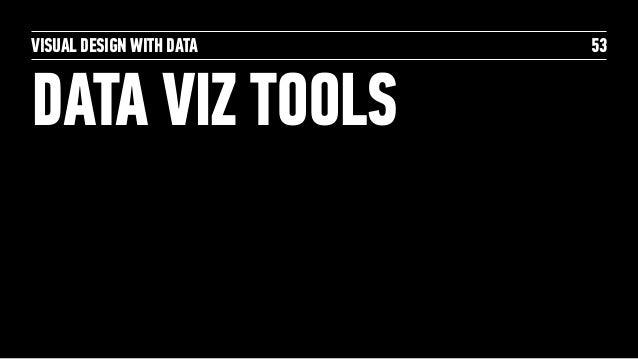 VISUAL DESIGN WITH DATA DATA VIZ TOOLS 53