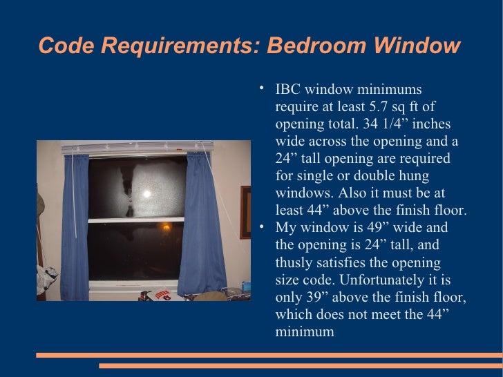Code Requirements  Bedroom Window. VISUALDICTIONARY1