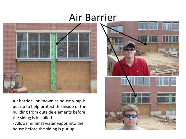 Air Barrier<br />Air barrier-  or known as house wrap is put up to help protect the inside of the building from outside el...