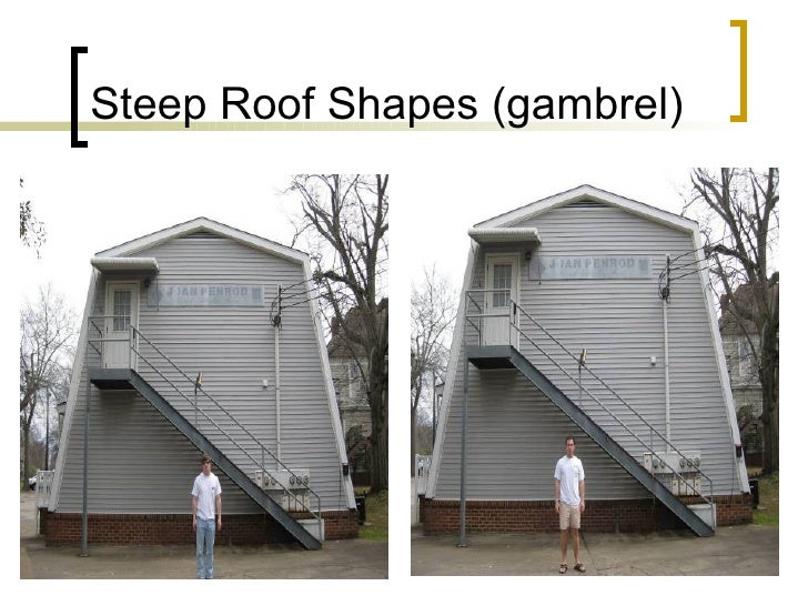 Steep Roof Shapes (gambrel)