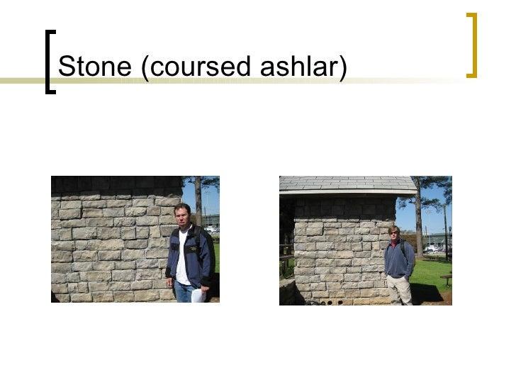 Stone (coursed ashlar)