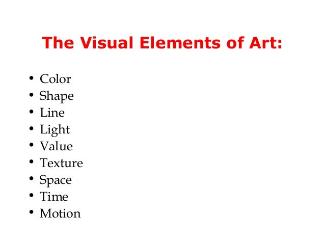 Visual Elements : Visual elements