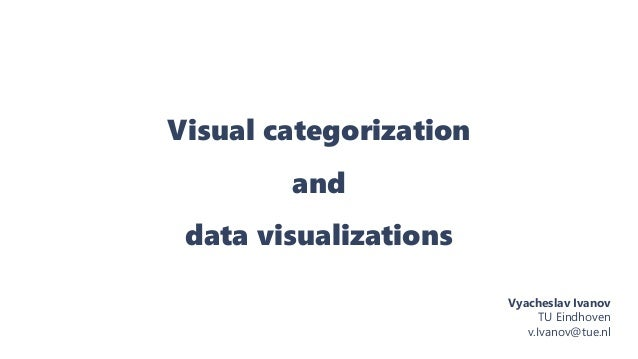 Visual categorization and data visualizations Vyacheslav Ivanov TU Eindhoven v.Ivanov@tue.nl