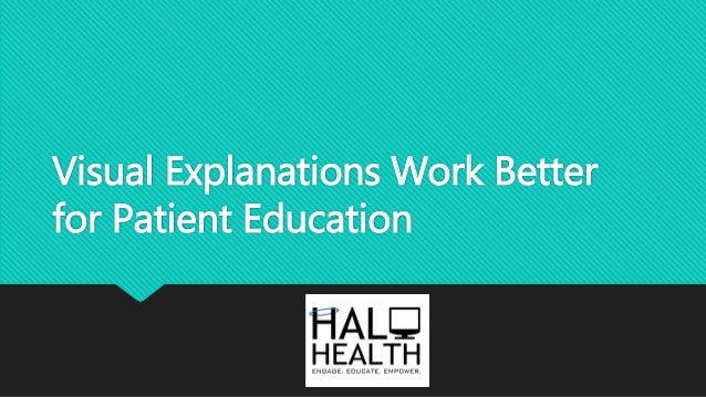 Visual Explanations Work Better for Patient Education