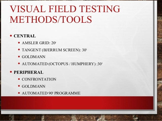 Visual Field Testing And Interpretation