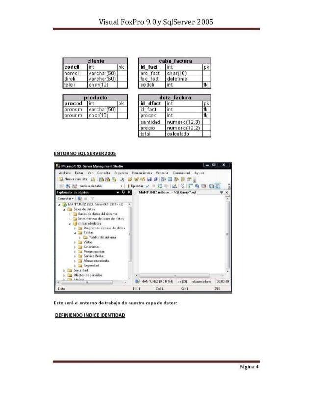 Visual fox pro 9.0 y sqlserver 2005
