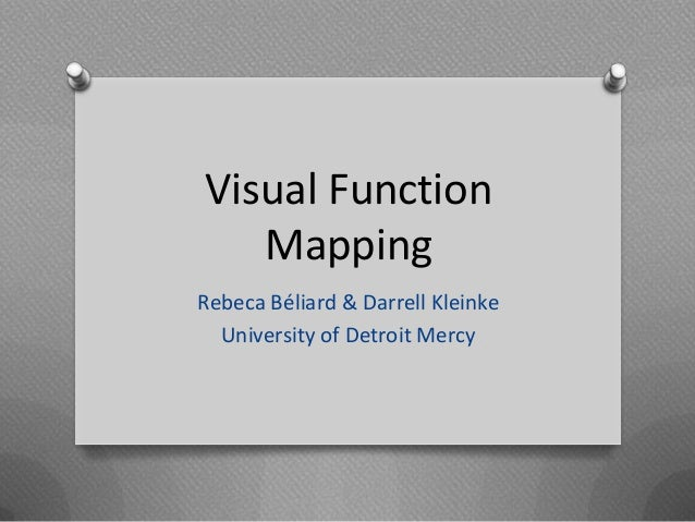 Visual Function   MappingRebeca Béliard & Darrell Kleinke  University of Detroit Mercy