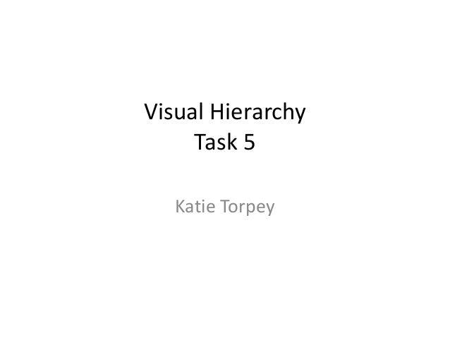 Visual Hierarchy Task 5 Katie Torpey