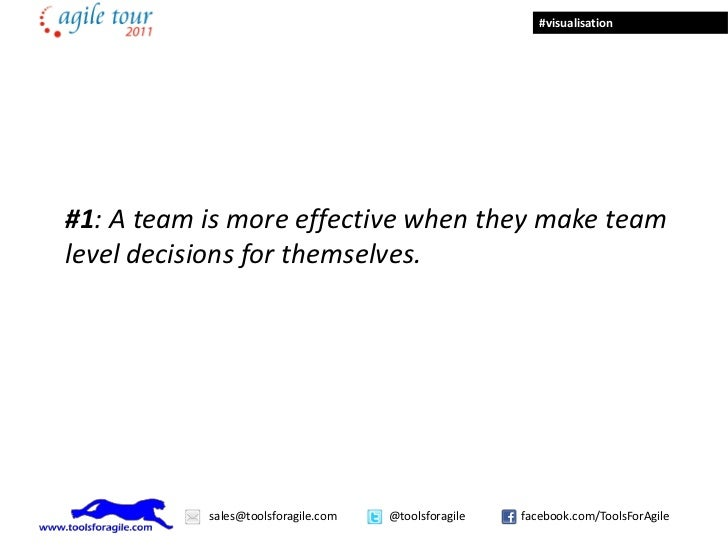 #visualisation#1: A team is more effective when they make teamlevel decisions for themselves.           sales@toolsforagil...