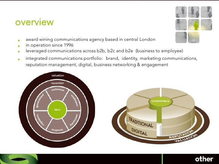 overview •   award wining communications agency based in central London •   in operation since 1996 •   leveraged communic...