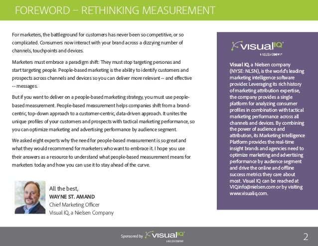 Visual IQ: 8 Experts On How to Measure People-Based Marketing Impact Slide 2