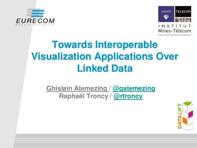 Towards InteroperableVisualization Applications Over          Linked Data   Ghislain Atemezing / @gatemezing      Raphaël ...
