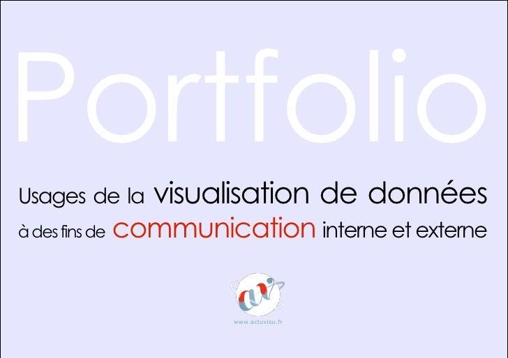 Portfolio Usages de la       visualisation de données à des fins de   communication interne et externe                    ...