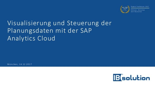 Digital Trailblazer 2017 B.Braun, Aesculap and IBsolution Visualisierung und Steuerung der Planungsdaten mit der SAP Analy...