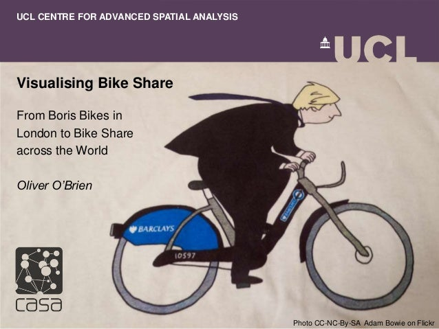 Visualising Bike Share From Boris Bikes in London to Bike Share across the World Oliver O'Brien UCL CENTRE FOR ADVANCED SP...