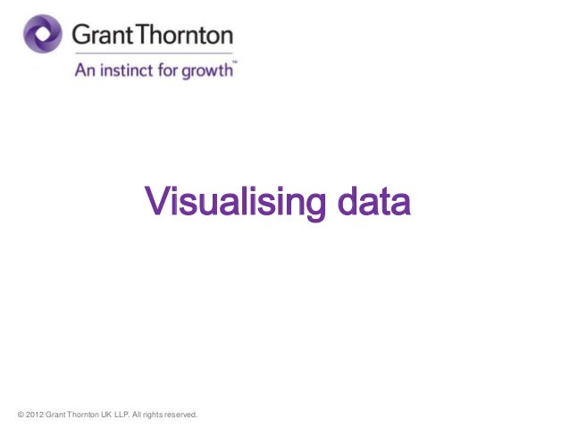 © 2012 Grant Thornton UK LLP. All rights reserved. Visualising data