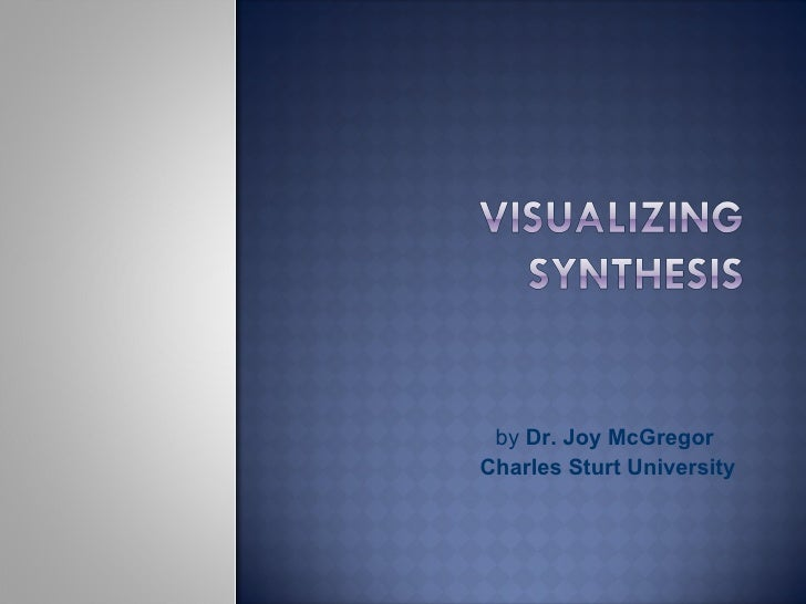 by  Dr. Joy McGregor  Charles Sturt University