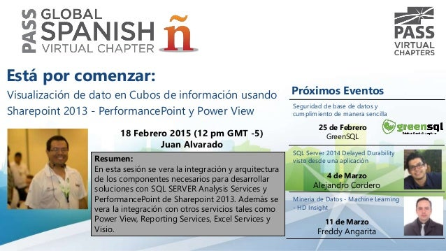 Visualización de dato en Cubos de información usando Sharepoint 2013 - PerformancePoint y Power View 18 Febrero 2015 (12 p...