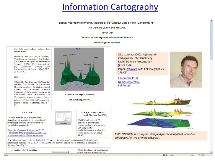 Information Cartography              Old, L. John, (2002). Information              Cartography. PhD Qualifying           ...