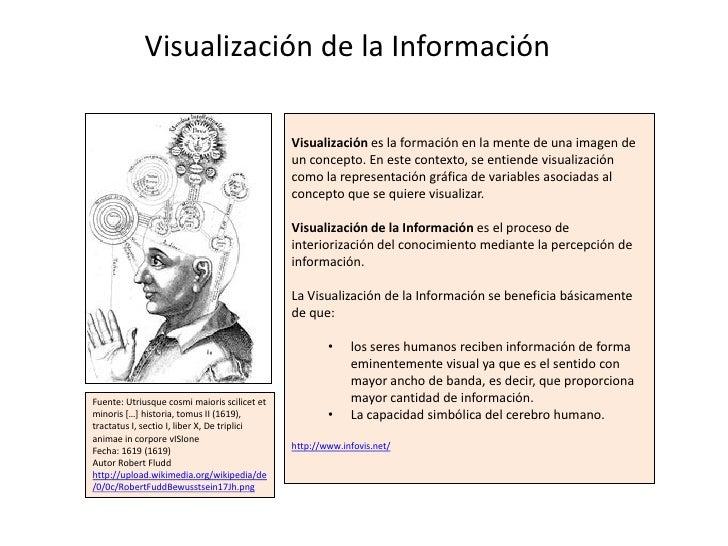 Visualización de la Información                                              Visualización es la formación en la mente de ...