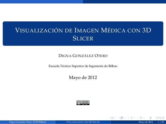 V ISUALIZACIÓN DE I MAGEN M ÉDICA CON 3D                      S LICER                                           D IGNA G O...