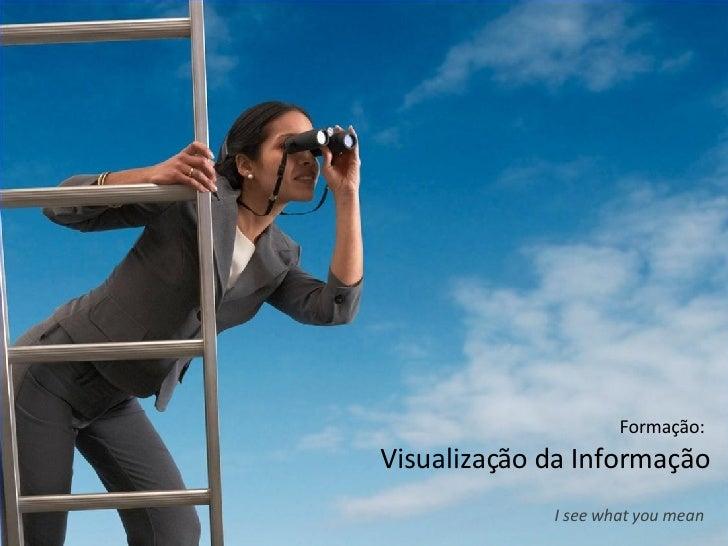 Formação:  Visualização da Informação I see what you mean